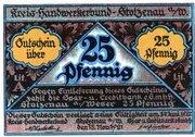 25 Pfennig (Kreis-Handwerkerbund) – avers