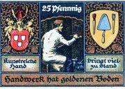 25 Pfennig (Kreis-Handwerkerbund) – revers