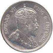 50 cents - Edward VII – avers
