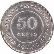 50 cents - Edward VII – revers