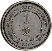 ½ cent - Victoria – revers