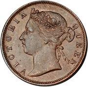 ½ cent - Victoria – avers