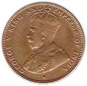 ½ cent - George V – avers