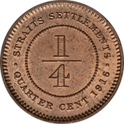 ¼ cent - George V – revers