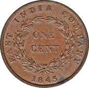 1 cent - Victoria – revers