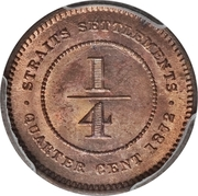¼ cent - Victoria – revers