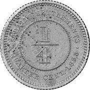 ¼ cent - Victoria (essai) – revers