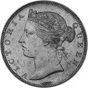 ½ Cent - Victoria (essai) – avers