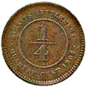 ¼ cent - Edward VII – revers