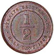 ½ cent - Edward VII – revers