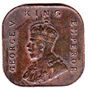 ½  cent - George V – avers