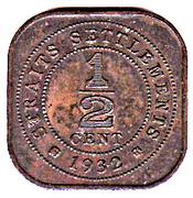 ½  cent - George V – revers