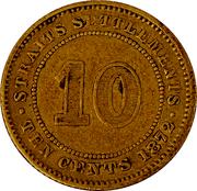 10 Cents - Victoria (essai) – revers