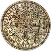 1 dollar - Edward VII – revers