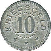 10 pfennig - Stralsund – revers