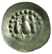 1 denier embouti de Strasbourg Konrad III. de Lichtenberg – avers