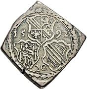 20 Kreuzer - Georg von Brandenburg (Klippe; Siege currency) – avers