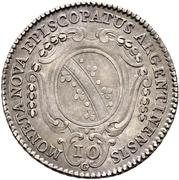 10 Kreuzer - Ludwig Konstantin von Rohan – revers