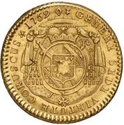 1 Constantin d'or - Ludwig Constantin von Rohan-Guéménée – revers