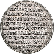 1 Thaler (100 years of Reformation) – revers