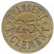 25 centimes - Orangerie - E.Clément - Strasbourg [67] – avers