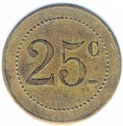 25 centimes - Orangerie - E.Clément - Strasbourg [67] – revers