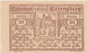 50 Heller (Strengberg) – revers