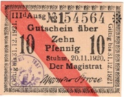 10 Pfennig (Stuhm) – avers