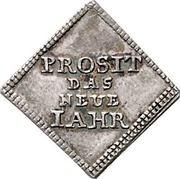 ½ Dukatenklippe (Silver pattern strike; Neue Jahr) – revers