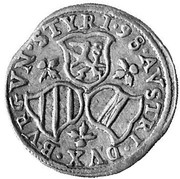 3 kreuzer Ferdinand II Archiduc (Graz) – revers