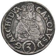 3 kreuzer Charles II Francois d'Autriche – avers