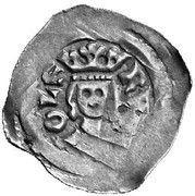 1 pfennig Duc Rudolf I (Graz) – avers