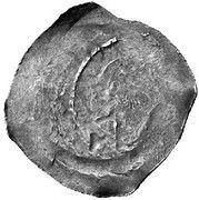 1 pfennig Duc Rudolf I (Graz) -  revers