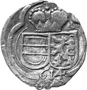 2 pfennig Ferdinand II Archiduc (Graz) – avers