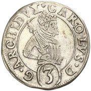 3 kreuzer Charles II Francois d'Autriche (Graz) – avers