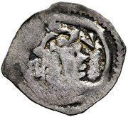 1 pfennig Rudolf IV (Graz) – avers