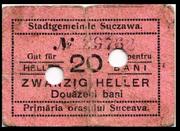20 Heller (Suceava) – avers