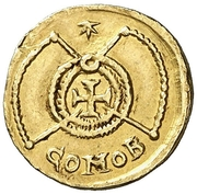 Tremissis au nom de Valentinien III – revers