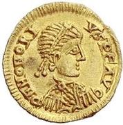 Tremissis au nom de Honorius – avers
