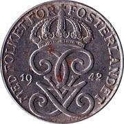 1 öre - Gustaf V (fer, guerre) -  avers