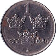 1 öre - Gustaf V (fer, guerre) -  revers