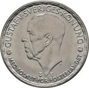 1 krona Gustaf V -  avers