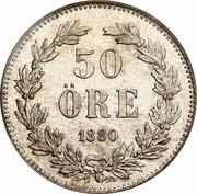 50 öre Oscar II (grandes inscriptions) -  revers
