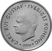 1 krona Carl XVI Gustaf -  avers