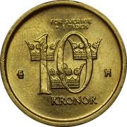 10 kronor Carl XVI Gustaf -  revers