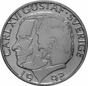 1 krona Carl XVI Gustaf (cupronickel) -  avers