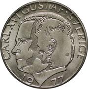 1 krona Carl XVI Gustaf (cuivre plaqué cupronickel) -  avers