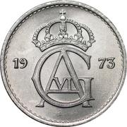 25 öre Gustaf VI Adolf -  avers