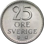 25 öre Gustaf VI Adolf -  revers