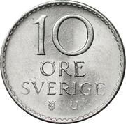 10 öre Gustaf VI Adolf -  revers
